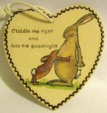 'Cuddle Me Tight', Heart Plaque